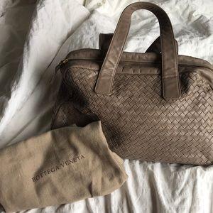 Bottega Veneta Napa Intercciato Bowler Bag